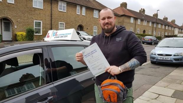 passing the driving test in Beckenham