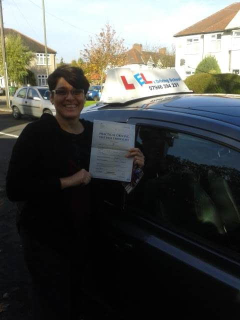 Josie from Beckenham, Kent passed her test first time