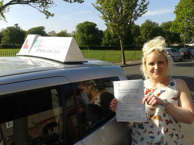 Rachael from Beckenham, Kent passed first time!