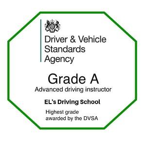 Grade A award EL's Driving School in West Wickham